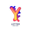 the letter y latin alphabet display vector image vector image