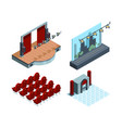 theater stage isometric opera ballet hall vector image