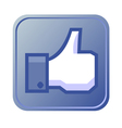 Thumb up button vector image vector image