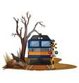 train ride in dry desert vector image vector image