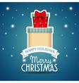 two gifts card happy holidays merry christmas vector image