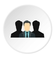 Unidentified male avatars icon flat style vector image vector image