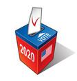 us presidential election 2020 ballot box vector image