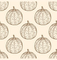 vintage seamless pattern with pumpkins vector image vector image