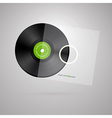 Vinyl Record Disc Isolated on White Background vector image