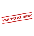 Virtual Sex Watermark Stamp vector image vector image