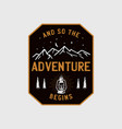 wilderness adventure logo design print camping vector image vector image