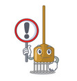 with sign rake character cartoon style vector image