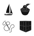 wood cabinet sports and other web icon in black vector image vector image