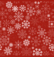seamless christmas snowflakes background vector image