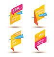 set of modern sale stickers badge for online vector image