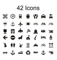 42 icon sets tools icons vector image vector image
