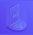 4g wireless internet wifi connection vector image vector image