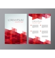 flyer red brochure abstract design 2 sides