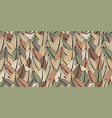 abstract seamless pattern multicolored leaves vector image