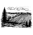 agricultural crops sketch vector image