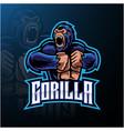 angry gorilla mascot logo desain vector image vector image