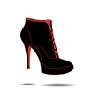 Ankle boots shoes vector image vector image