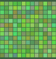 background of art colored green squares mosaic vector image vector image
