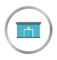 Bank icon cartoon Single building icon from the vector image vector image