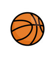 basketball ball icon basket ball logo vector image