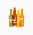 beer bottle logo color banner on white vector image
