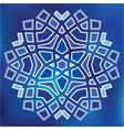 blue grid mosaic hexagon snowfkake papercut vector image vector image