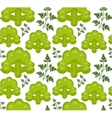 Broccoli seamless pattern Healthy food endless vector image vector image