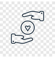 care concept linear icon isolated on transparent vector image