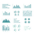charts and graphs line set vector image vector image