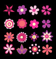 colorful spring flowers vector image vector image