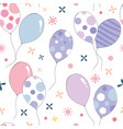 colourful pastel colour balloons seamless pattern vector image