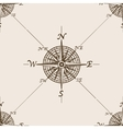 Compass rose sketch style seamless pattern vector image