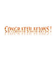 Congratulations calligraphy lettering