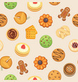 cookies with jam gingerbread chocolate chip vector image