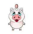 cute funny piggy vector image