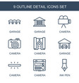 detail icons vector image vector image