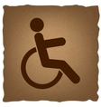 Disabled sign Vintage effect vector image vector image