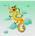dragon china art design vector image