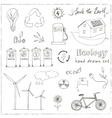 Ecology and recycle doodle icons set vector image vector image