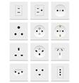 electric sockets set vector image vector image