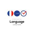 french language school logo course concept vector image vector image