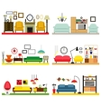 Furniture ideas for living room vector image vector image