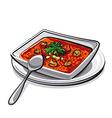 gazpacho soup vector image