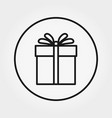gift universal icon editable thin line vector image