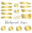 golden ink borders brush strokes stains banners vector image vector image