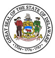 great seal of delaware vector image vector image
