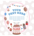 Greeting card for birthday with a field for text vector image vector image