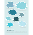 Group of communication speech clouds vector image vector image