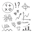 hand drawn business design elements set of vector image vector image
